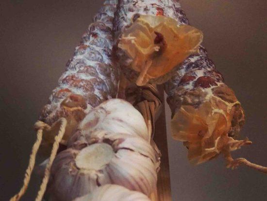 Manx chorizo and garlic
